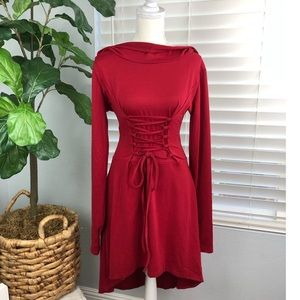 NWOT LITTLE RED RIDING HOOD INSPIRED DRESS HIGH LO